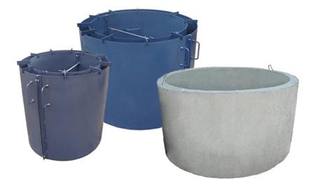 Форма для производства железо бетонных колодезных колец
