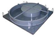Формы крышек для бетонных колодезных колец
