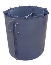 Разборные формы для бетонных колец