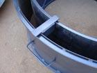 Усиленная Разборная форма 1 метр для бетонных колец высота 30 см