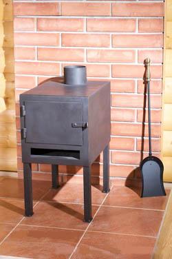 Печь на дровах, твердом топливе, Буржуйка